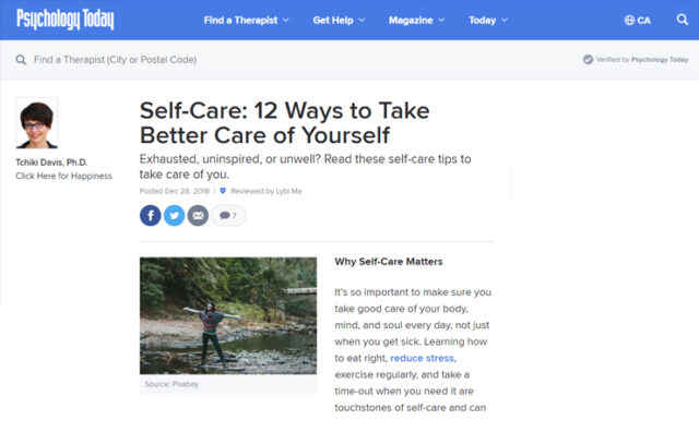 Self-Care: 12 Ways to Take Better Care of Yourself Cover