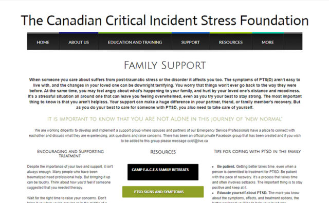 Family Support CCISF cover