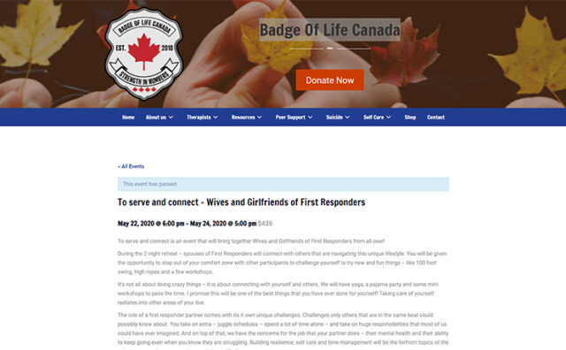 Badge Of Life Canada To serve and connect – Wives and Girlfriends of First Responders cover